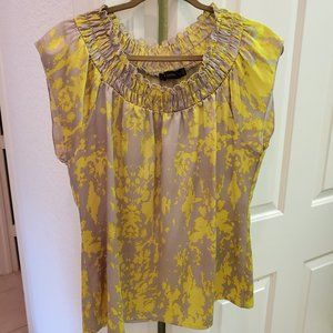 The Limited Yellow and Beige Top